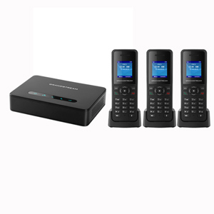 DECT VoIP System with Base and 3 Handsets