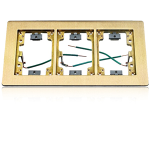 Hubbell 3-Gang Rectangular Flange for Wooden Floors