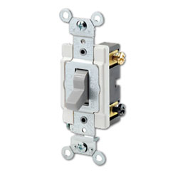 Leviton Commercial Grade,Back and Side Wired, 120/277 Volt, Toggle Double-Pole AC Quiet Switch