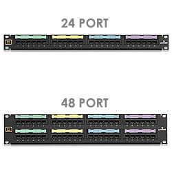 Leviton 24/48-Port Voice Grade Patch Panel
