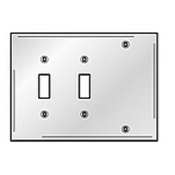 Hubbell 3-Gang Combination Plates Satin Stainless Wallplate