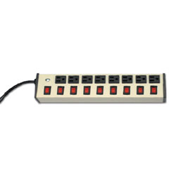 Legrand - Wiremold Deluxe Control Plug-In Outlet Center® with Eight Individually Switched Outlets