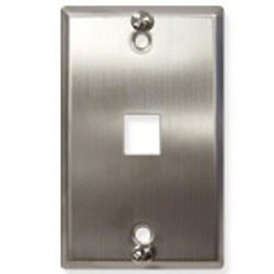 ICC Stainless Steel Wall Plate, 1-Port