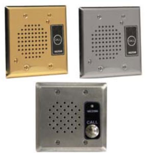 Valcom IP Intercom - Durable Flush Mount Plate with Call Button and LED