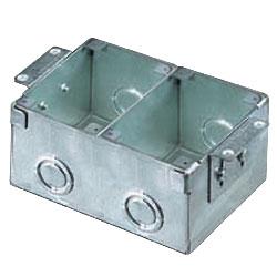 Hubbell 2-Gang Rectangular Stamped Steel Floor Box for Wooden Floors