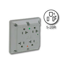 Leviton Hospital Grade/Isolated Ground Surge Protective Four-In-One 20A/125V Receptacle