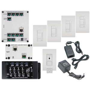 Legrand - On-Q Digital Audio Four-Room Mullti-Source Kit