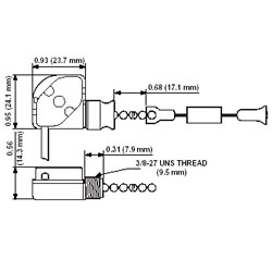 Leviton Compact, Single Circuit Single Pull Chain Switch