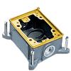 Rectangular Metallic, Shallow Cast Iron Floor Box