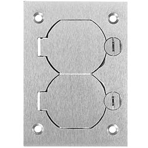 Hubbell Duplex Flap Aluminum Cover