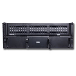 Hubbell SpeedGain  Cat 6A 48-Port Universal Patch Panel (Rack Mount)
