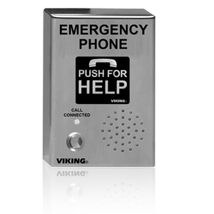 Viking ADA Compliant VoIP Emergency Phones with Built-In Dialer and Digital Voice Announcer