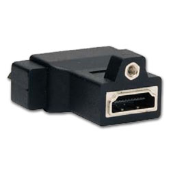 Hubbell AV Connector, DVI to HDMI Female/Female Coupler