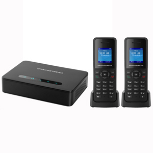 DECT VoIP System with Base and 2 Handsets