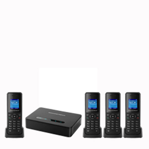 DECT VoIP System with Base and 4 Handsets