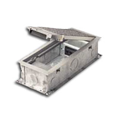 Hubbell Power and Communication Three-Service Floor Box without Cover and Flange