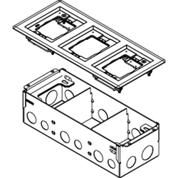 Legrand - Wiremold 880W3 Series Three-Gang Steel Floor Box with Flange