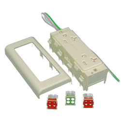 Legrand - Wiremold 2400 Series™ 20A Duplex Receptacle Fitting