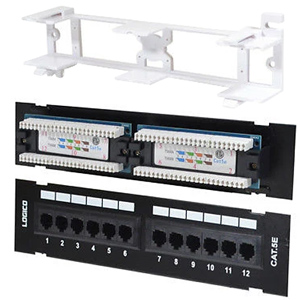 Cat5e 12 Port Patch Panel with Wall Mount Bracket