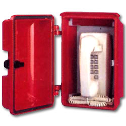 Allen Tel Mini-Wall Phone with Weather Resistant Enclosure
