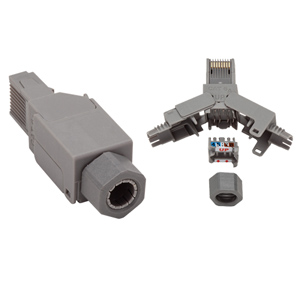 Allen Tel CAT 6A UTP 10G Plug 8C Round Cord