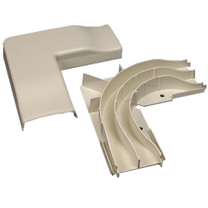 Legrand - Wiremold 2300D Series Radiused Divided Flat Elbow