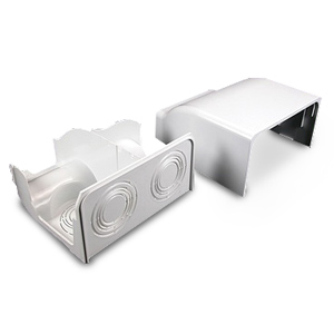Legrand - Wiremold 5400 Series Nonmetallic Raceway™ Fittings - Bend Radius Divided Entrance End Fitting