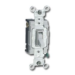 Leviton 3-Way, Framed Toggle Side Wired Quiet Switch