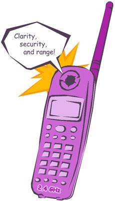 cordless phones, cordless telephones, 900MHz cordless telephones, 2.4ghz cordless telephones