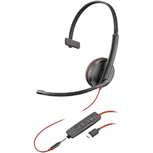Blackwire C3215 Monaural Headset USB-C