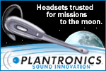 Plantronics Headsets on the Moon