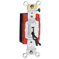 Leviton 3-Way Toggle Locking Switch, Ivory