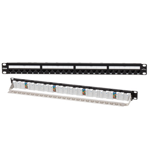 24 Port Loaded 10Gb Cat 6A Patch Panel 1RU