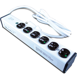Medical Dental Grade Plug-In Outlet Center® with 6 Outlets