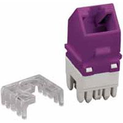 Allen Tel Cat 6 Angled E-Z Jack, Purple