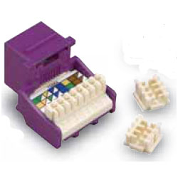 Allen Tel Cat 5e Jack, 8P8C, Purple