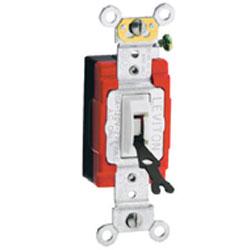 Leviton 3-Way Toggle Locking Switch, White
