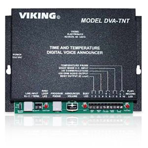 Viking Time and Temperature Announcer
