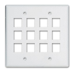 Legrand - On-Q 2-Gang, 12-Port Wall Plate