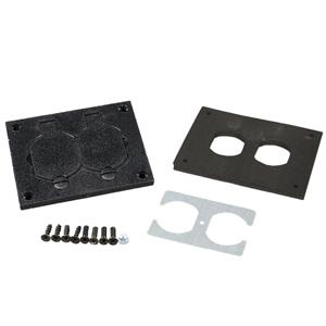 Nonmetallic Duplex Cover Plate, Black