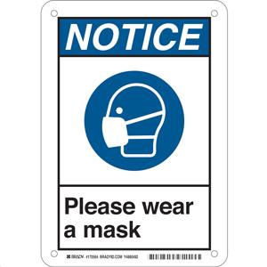 Please Wear a Mask Sign