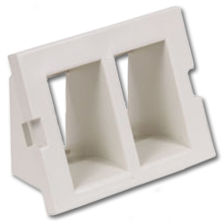 Hubbell Infin-e-Station Keystone - 2 Port/Recessed