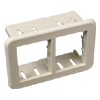 CM Ortronics TracJack 2A Mini Adapter Mounting Bezel, Ivory (Package of 5)
