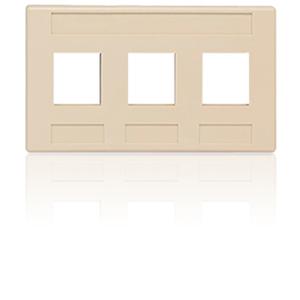 Allen Tel 3 Port Furniture Faceplate