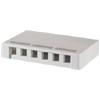 Surface Mount Box for Six Keystone Jacks or Modules