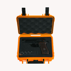 Single Handgun Shield Case Large Orange