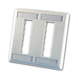 Legrand - Ortronics TracJack™ Six-Port Dual Gang Plastic Faceplate
