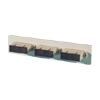 Bottom Adapter Plate, 3-SC Duplex (6 Fibers) Multimode, Beige Adapters, Phosphor-bronze Alignment Sleeves