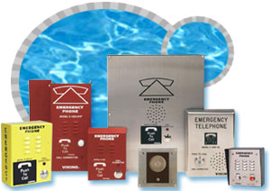 viking emergency phones, poolside phones, emergency pool phones, emergency phones for pools
