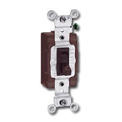 Leviton Single-Pole, Framed Toggle Side Wired Quiet Switch